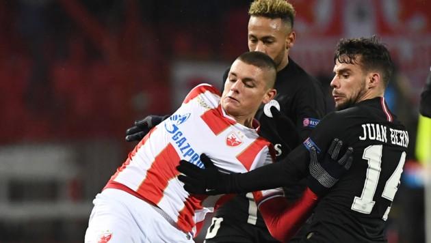 Dejan Joveljic (li.) kommt von Eintracht Frankfurt zum WAC. (Bild: AFP)