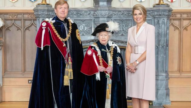 Queen verleiht gleich zwei Königen Hosenbandorden