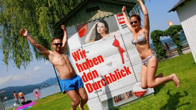Luftsprünge und Freudentänze wird der glückliche Gewinner dieser Badehütte aufführen! (Bild: Rojsek-Wiedergut Uta)