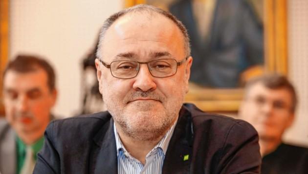 Josef Scheinast (Die Grünen) ist Befürworter der Windenergie (Bild: Markus Tschepp)