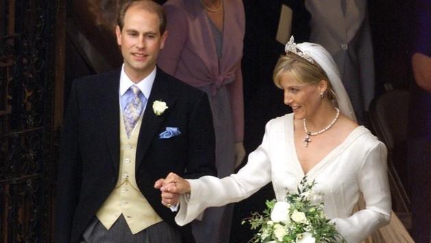 Hochzeit von Prinz Edward und Sophie 1999 (Bild: AFP)