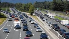 Staumanagement auf der Autobahn als Hauptaufgabe (Bild: Markus Tschepp)