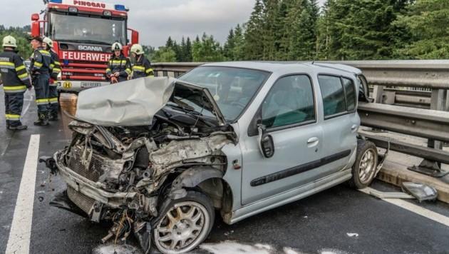 Einer der drei Unfälle (Bild: Einsatzdoku Team)