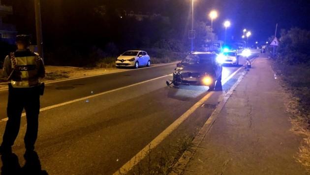 Der Unfalllenker war alkoholisiert und wurde festgenommen. (Bild: Libero Portal)