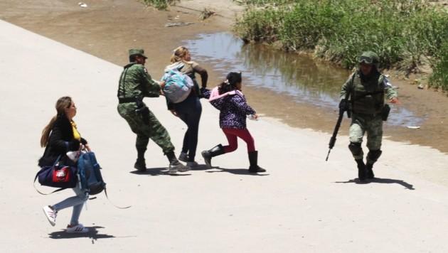 Täglich werden Dutzende Migraten beim Versuch gestoppt, den Rio Bravo Richtung USA zu überqueren.