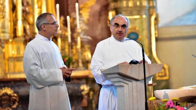 Roger Ibounigg (links) und Bischof Wilhelm Krautwaschl (Bild: Richard Heintz)
