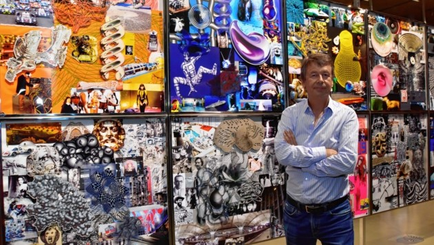 Peter Kogler im Grazer Kunsthaus (Bild: Richard Heintz, Foto Ricardo 8010 A-Graz)