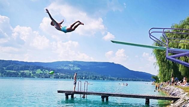 Rekordtemperaturen sorgten auch für Besucherrekorde in den Strandbädern am Attersee. (Bild: Marion Hörmandinger)