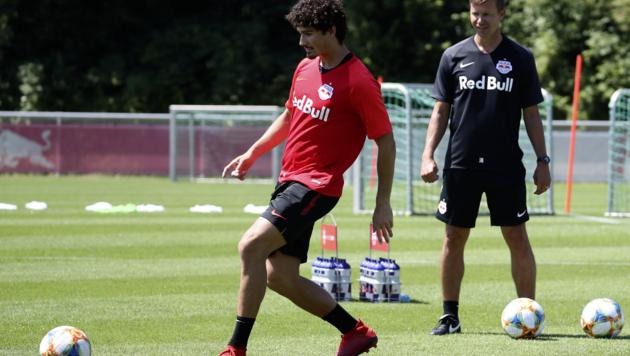 Andre Ramahlo, Jesse Marsch beim Training (Bild: Andreas Tröster/Kronenzeitung)