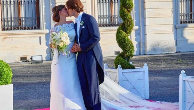 """""""Sie dürfen die Braut jetzt küssen!"""" - Sophia und ihr Arturo (Bild: Starpix/ Alexander TUMA)"""
