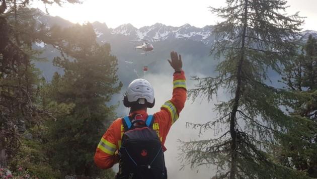Waldbrand in Kappl (Bild: zoom.tirol)