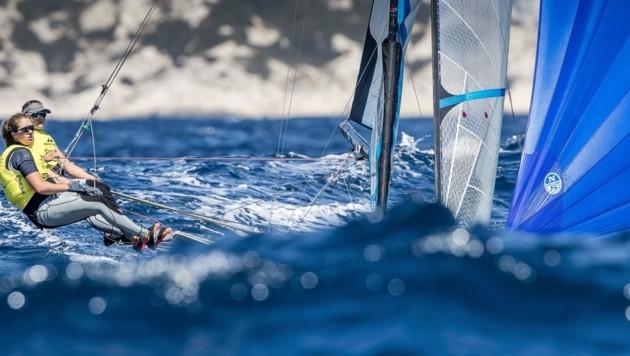 Anna Boustani und Laura Schöfegger (Bild: Sailing Energy/World Sailing)