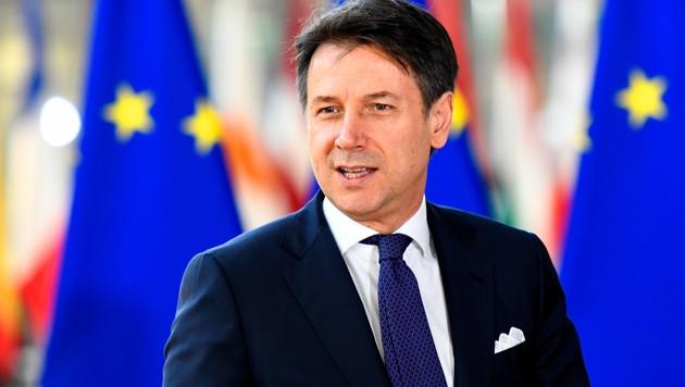 Kann - vorerst einmal - aufatmen: Italiens Premier Giuseppe Conte (Bild: AFP )
