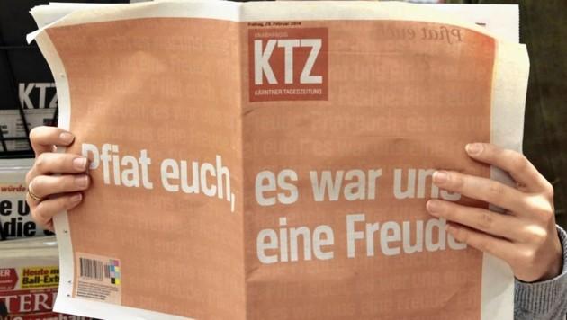Die letzte Ausgabe der KTZ. (Bild: APA/Gert Eggenberger)