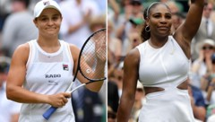Ashleigh Barty und Serena Williams (Bild: APA/AFP/GLYN KIRK, AP)