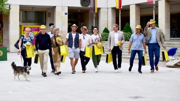 """Unternehmen, Politik und Stadtmarketing sorgen für """"Summerfeeling"""" in der Innenstadt. (Bild: Stadt Villach/Karin Wernig)"""