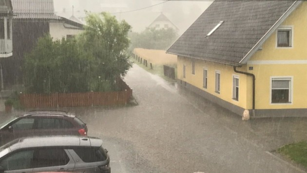Starker Regen zog am Sonntag über Kärnten. (Bild: zVg)