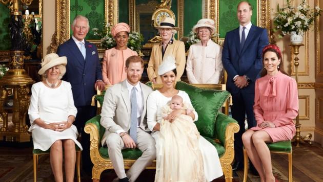 Prinz Harrys und Herzogin Meghans Sohn Archie Harrison wurde am 6. Juli in Windsor getauft. (Bild: AFP)