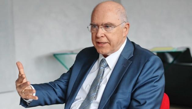 """""""Motoren-Papst"""": Helmut List, Chef der Grazer AVL. (Bild: sepp pail)"""