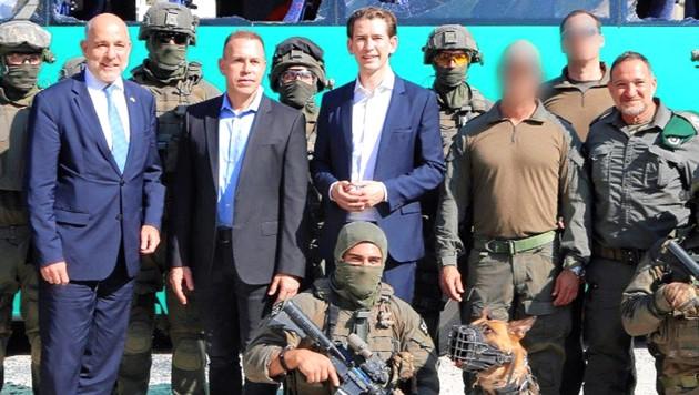 Sebastian Kurz inspizierte die Spezialeinheit Yaman. (Bild: ÖVP/Arno Melicharek)