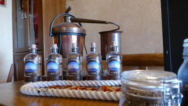 Mit diesem Mini-Destillator hat Luca Rossi seinen Gin bis zur Perfektion verfeinert (Bild: Stephan Schätzl)