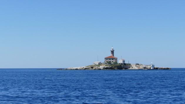 Auf der Leuchtturminsel Sveti Ivan am Rande des kleinen Archipels vor der Stadt Rovinj werden zwei Appartements für ruhebedürftige Touristen vermietet. (Bild: Stephan Schätzl)