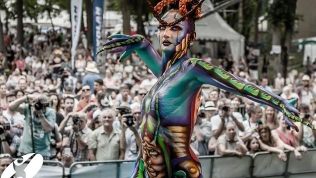 Bunte Körper stehen im Mittelpunkt des Festivals. (Bild: www.bodypainting.com)