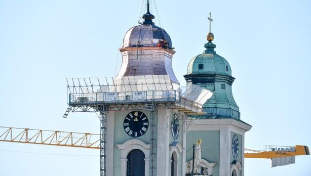 Das Kupferdach glänzt am Anfang und bekommt erst mit den Jahren die grüne Patina. (Bild: Harald Dostal)