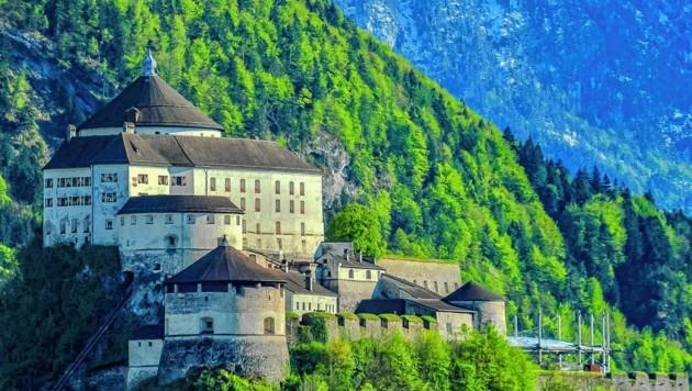 Die Festung in Kufstein in Tirol thront über dem Inn-Fluss, gilt als Wahrzeichen und Ausflugsziel und ist geschlossen. (Bild: hubertberger.com)