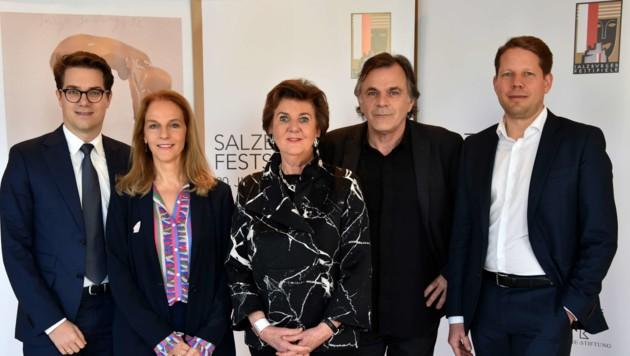 Lukas Crepaz, Bettina Hering, Helga Rabl-Stadler, Markus Hinterhäuser, Florian Wiegand (Bild: Salzburger Festspiele/Anne Zeuner)