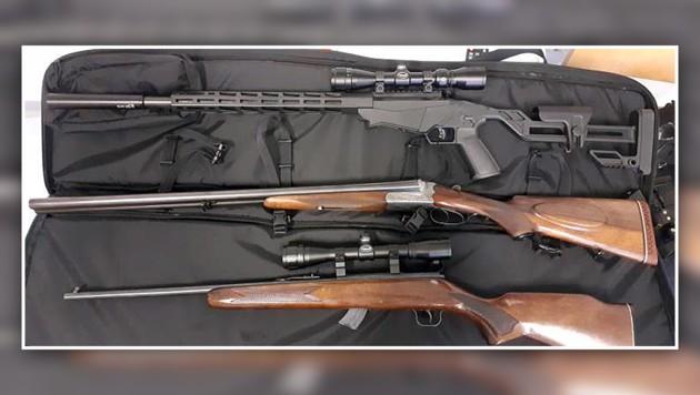 Der Mühlviertler machte mit den illegalen Waffen 75.000 Euro Gewinn (Bild: LPD WIEN, krone.at-Grafik)