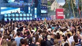 Die Chainsmokers beim Eletric Nation Graz (Bild: Ricardo Heintz)