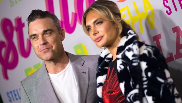 Robbie Williams mit Gattin Ayda Field (Bild: AFP)