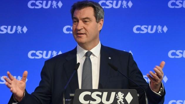 Der bayerische Ministerpräsident Markus Söder will unbürokratische Soforthilfen für Betriebe. (Bild: AFP)