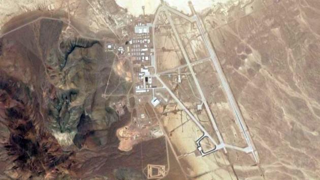 """Luftansicht der geheimnisumwitterten """"Area 51"""" (Bild: GoogleMaps)"""