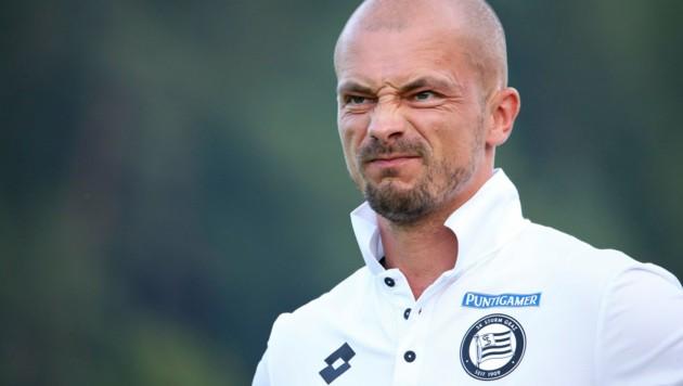 Sturm-Coach El Maestro weiß nicht mehr weiter. (Bild: GEPA)