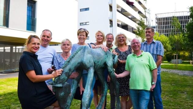 Die Nachbarn freuen sich über die Rückkehr des Fohlens (Bild: Stadt Salzburg)