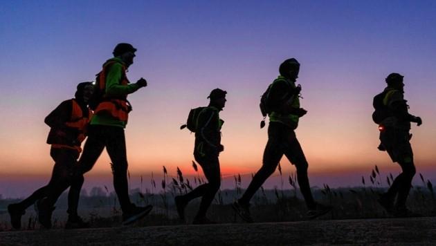"""Einzigartige """"Grenzerfahrung"""" für alle, die gut zu Fuß sind. (Bild: Verein 24 Stunden Burgenland Extrem)"""