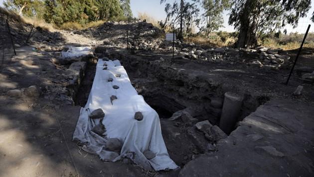 Die Grabungsstätte in der Region Galiläe deute auf das historische Fischerdorf Bethsaida hin, sind die Forscher überzeugt. (Bild: AFP/Menahem Kahana)