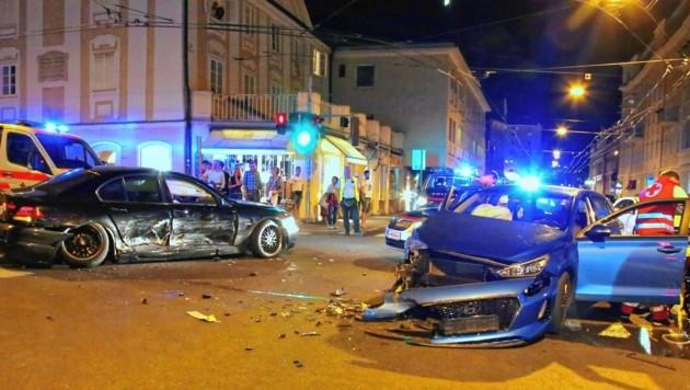 Unfall Schwarzstraße (Bild: Markus Tschepp)