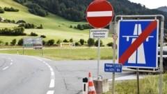 Für den Transit-Verkehr ist die Abfahrt St. Michael gesperrt (Bild: Holitzky Roland)