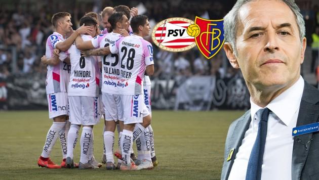 (Bild: APA/EXPA/REINHARD EISENBAUER, AP, FC Basel, PSV Eindhoven)