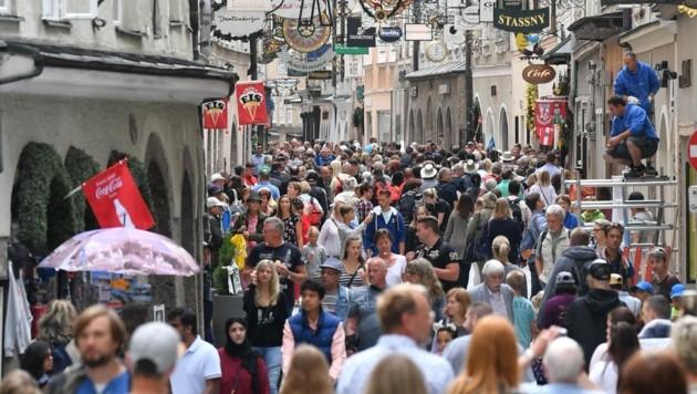 6,5 Millionen Gäste strömen derzeit jährlich in die Stadt Salzburg. (Bild: BARBARA GINDL)