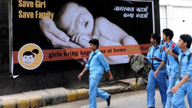 Indien hat ein Problem mit der gezielten Abtreibung von Mädchen. (Bild: AFP)