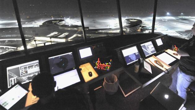 Der Austro-Control-Tower am Flughafen in Schwechat (Bild: APA/Herbert Pfarrhofer)