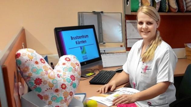 """Nadine Fuchs wurde für ihr Engagement im Vorjahr zur """"Pflegerin mit Herz"""" gewählt. (Bild: Barmherzige Brüder St. Veit/Glan)"""