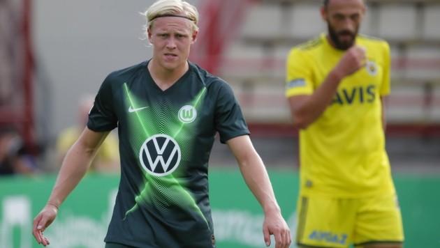 Spiel in Anif: Neo-Wolfsburger Xaver Schlager. (Bild: ERWIN SCHERIAU)