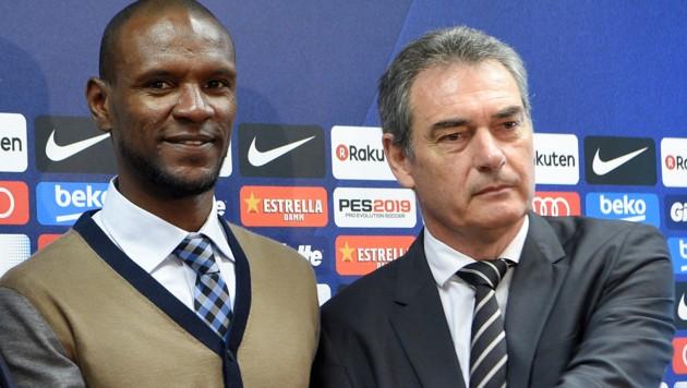 Josep Segura (re.) neben Eric Abidal (Bild: AFP)