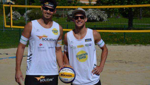 Flo Schnetzer (re.) und Partner Peter Eglseer sind weiterhin im Titelrennen. (Bild: Eglseer/Schnetzer)