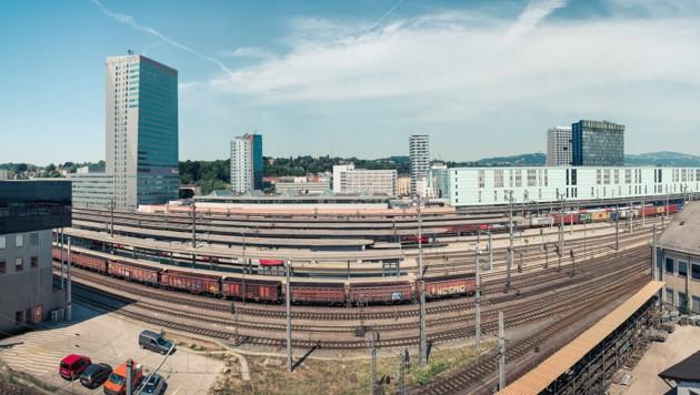 Allein in Linz fahren täglich rund 800 Güter- und Reisezüge durch. (Bild: Markus Wenzel)